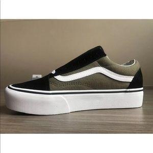 4c51acda726 Vans Shoes - Vans Women s Old Skool Platform Canvas and Suede